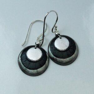 fp ørehængere - øreringe sort-sølv