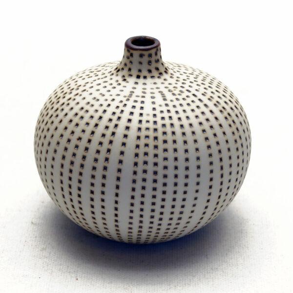 Lindform vase. Bari brun prik