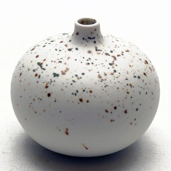 Lindform vase. Bari lys med pletter mat