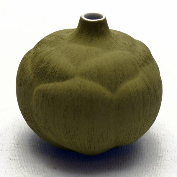 Lindform vase. Bari olivengrøn blomst
