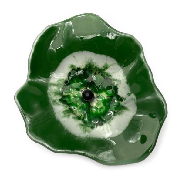 Glasblomst, mørkegrøn fra Grevelsgaard