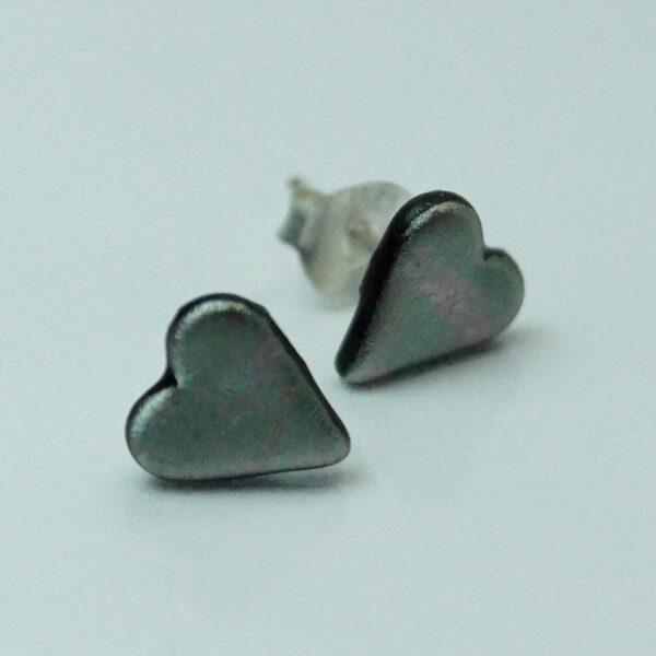 fp hjerte sølvgrå meleret