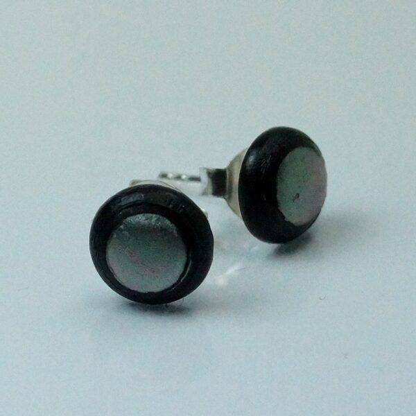 fp lille rund sølvgrå-sort