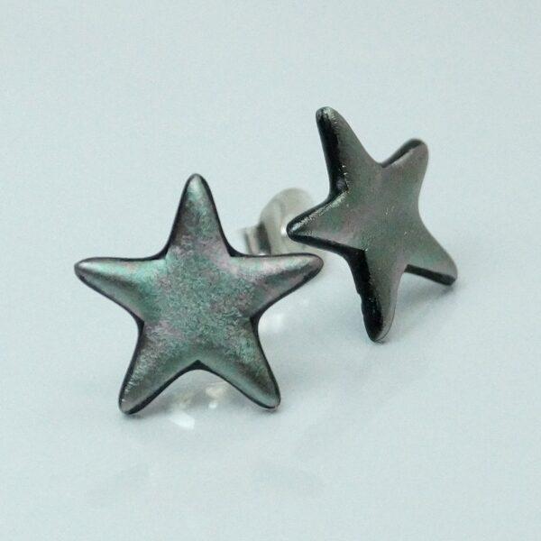fp stjerne sølvgrå meleret