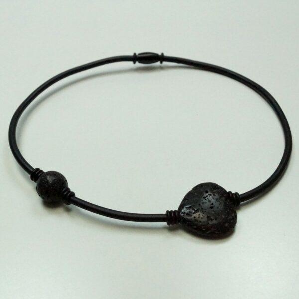 Ziga gummikæde 2 sort lava