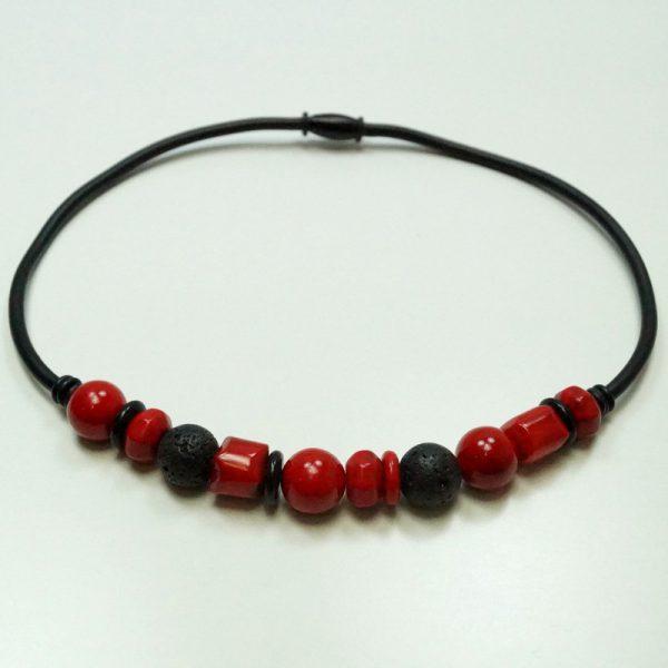 Ziga kæde gummi 300 rød sort