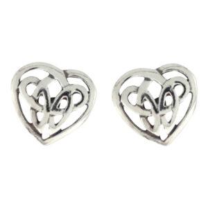Vikingesmykker, ørestikker sølv, hjerte