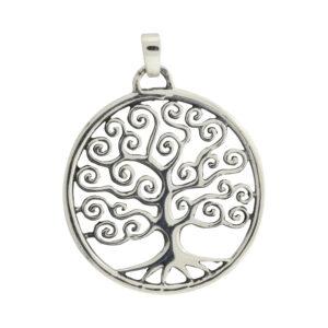 Vikingesmykke, sølv, Livets træ Yggdrasil