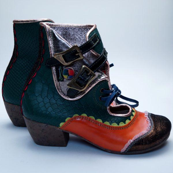 Pisaverde unika læderstøvle Ginger 39