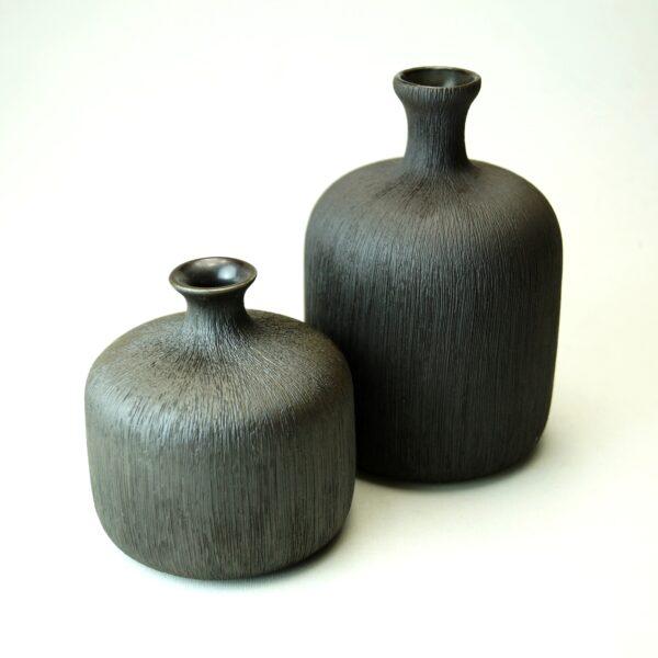 Bottle, sort Lindform vase