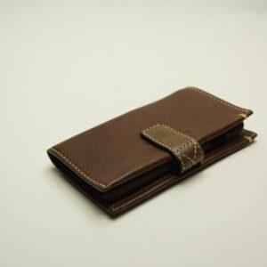 Læder etui/cover Iphone 5, 6, 7, 8 brun