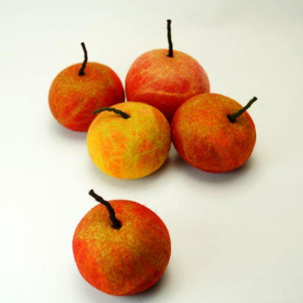 Filtede æbler, flere farver