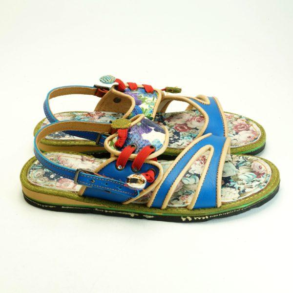 Kalima. Unika. Håndsyet sandal fra Pisaverde. Flotte farver og mønstre