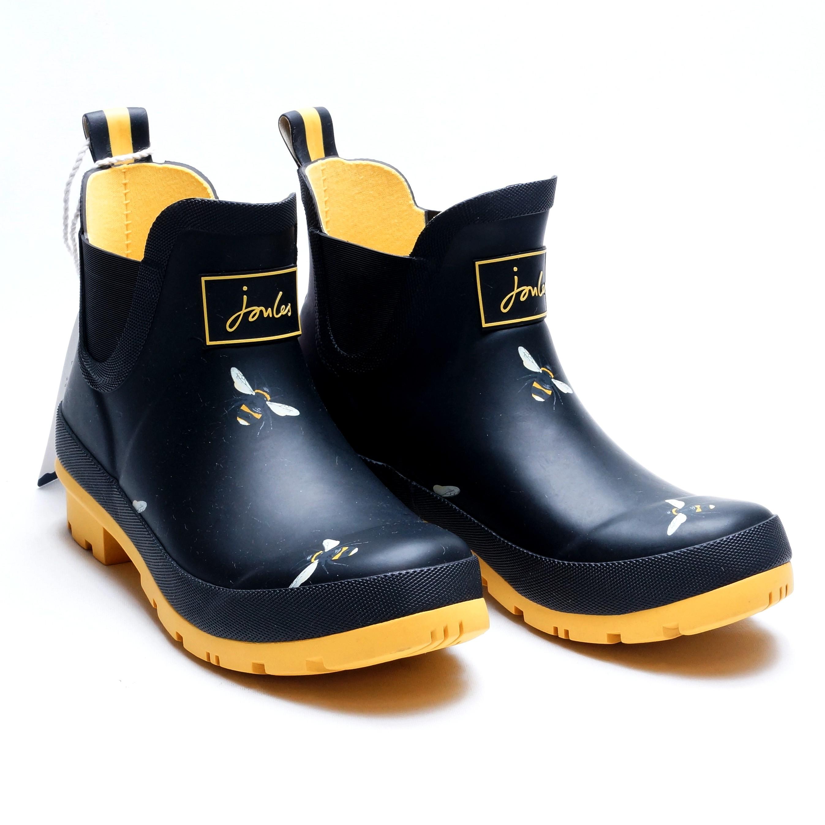 farverige glade gummistøvler, halvstøvler