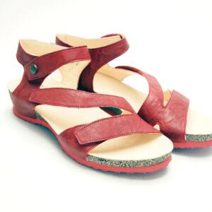 Think røde sandaler