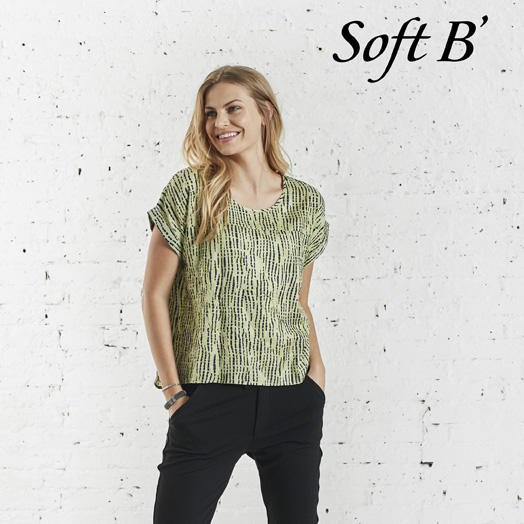 soft b grøn bluse