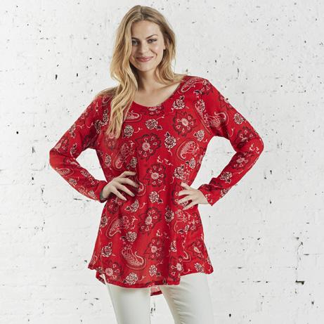 soft b rød bluse