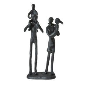 Sort jernfigur, par med to børn