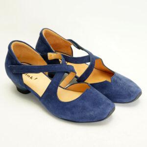 Blå elegante sko fra THINK! Ruskind