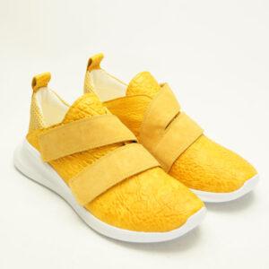Gul behagelig sko fra THINK!