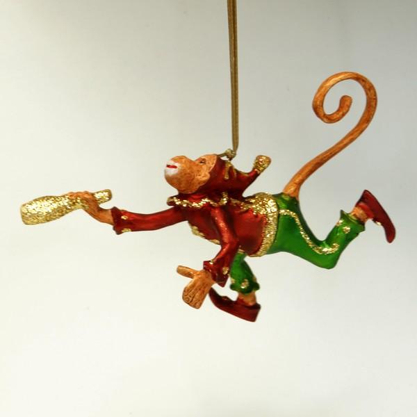 Jonglerende abe med kegle