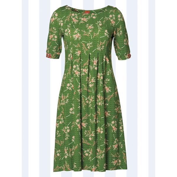 Du Milde, grøn Almina kjole