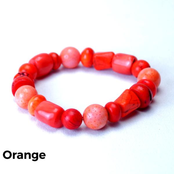 Armbånd sten orange