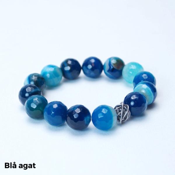 Armbånd blå agat