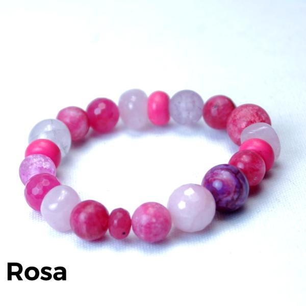 Armbånd sten rosa