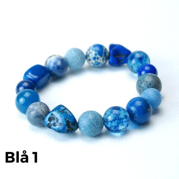 Armbånd sten blå 1