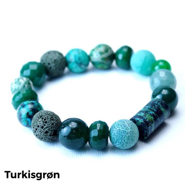Armbånd sten turkisgrøn