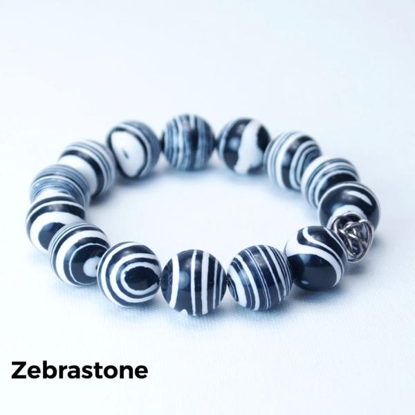 Armbånd zebrastone
