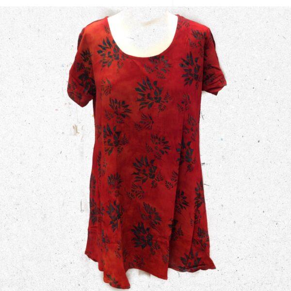 Campur batik kjole veronika rød