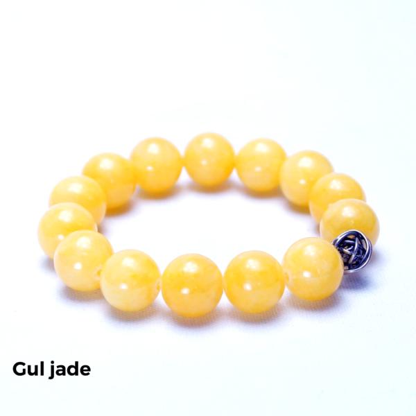 Armbånd gul jade