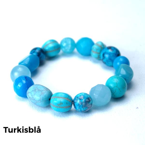 Armbånd sten turkisblå