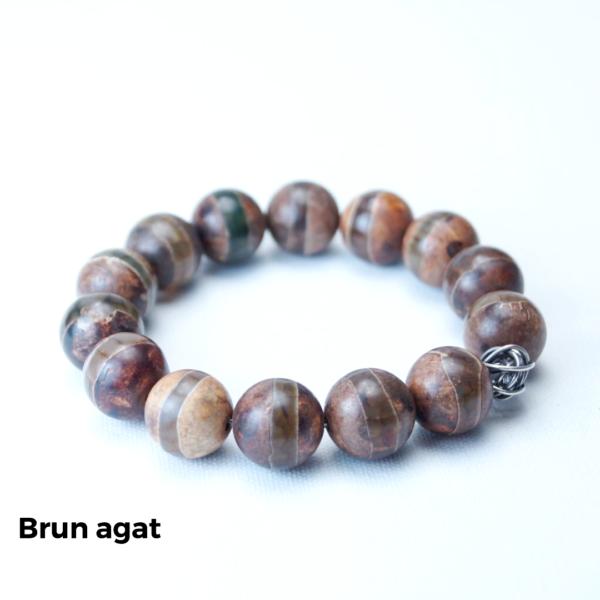 Armbånd brun agat