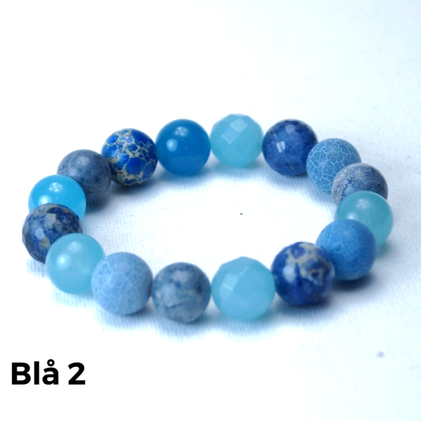 Armbånd sten blå 2