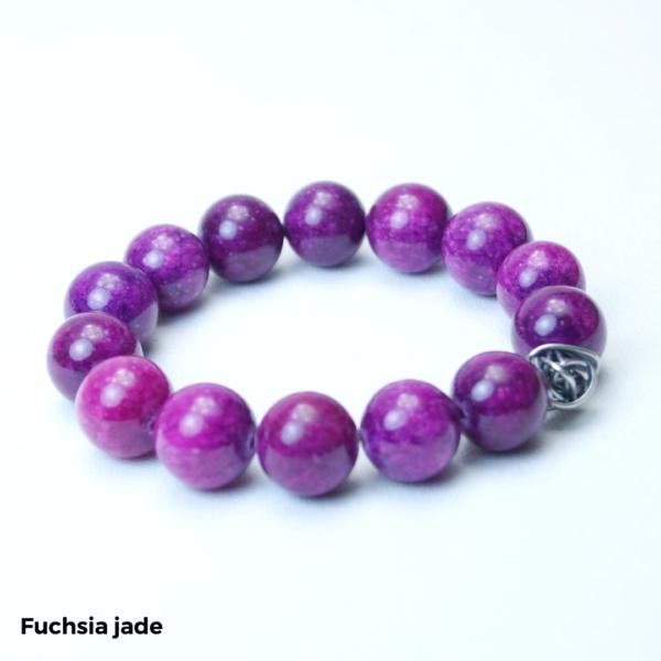 Armbånd fuchsia jade