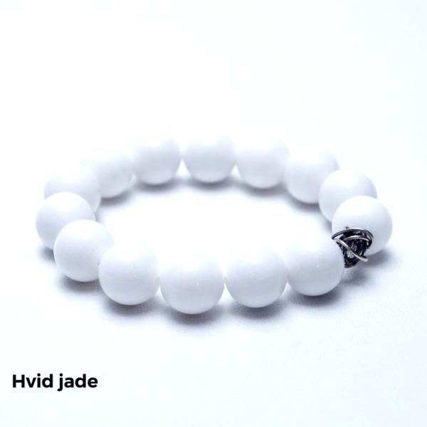 Armbånd hvid jade