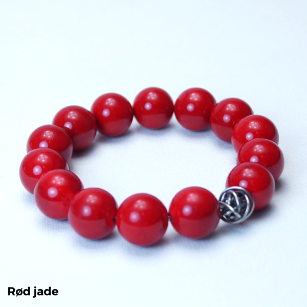 Armbånd rød jade