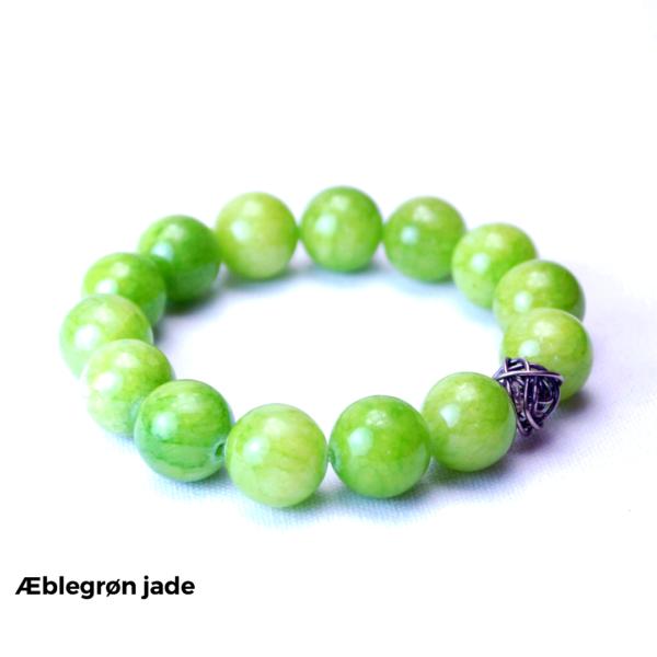 Armbånd æblegrøn jade