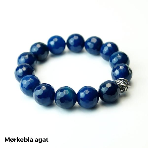 Armbånd mørkeblå agat