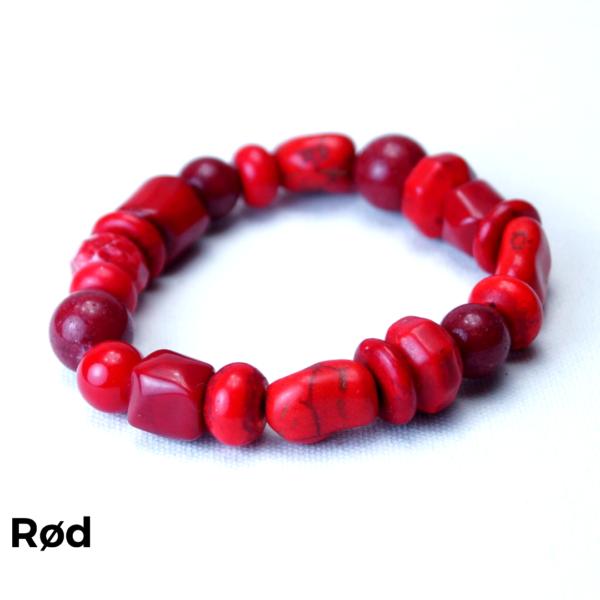 Armbånd sten rød