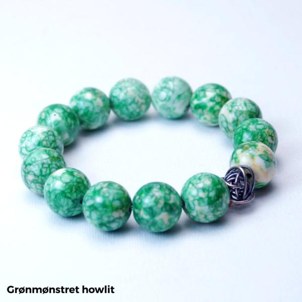Armbånd grønmønstret howlit