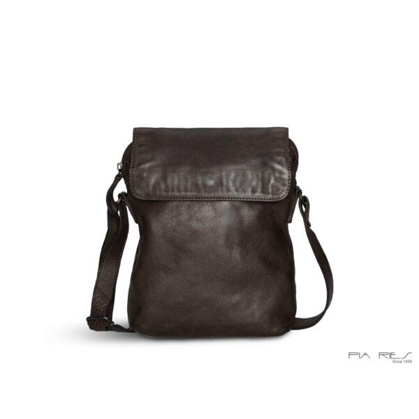 Pia Ries lædertaske 055 mørkebrun