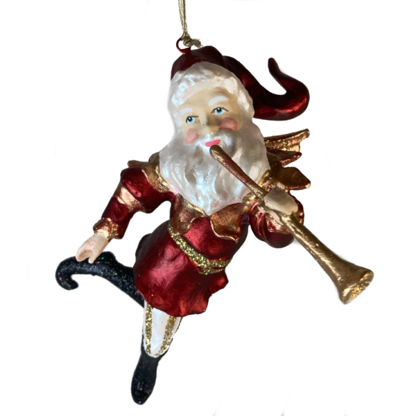 Eventyrfigur: Julemand med trompet