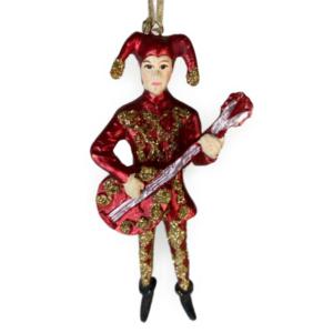 Eventyrfigur: Rød nar med guitar