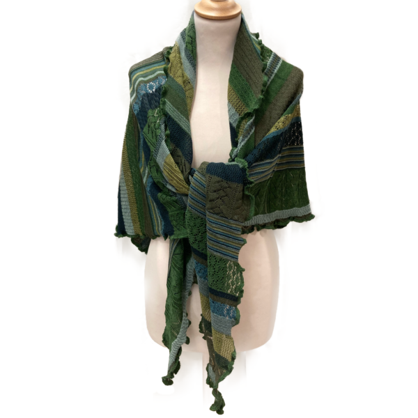 Invero merino uld tørklæde, Grøn