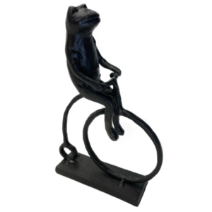 Jernfigur, frø på cykel