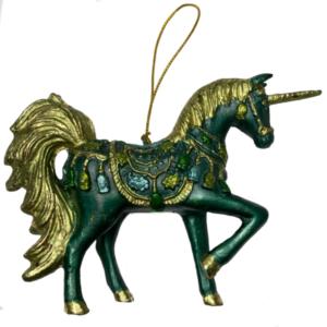 Eventyrfigur, enhjørning grøn